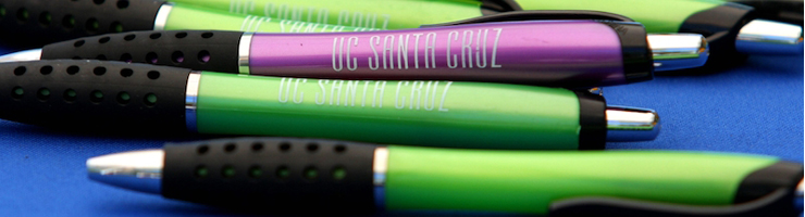 writing pens with u c santa cruz logo